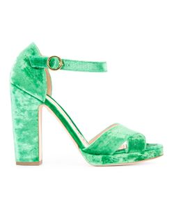 Rupert Sanderson | Savanna Crush Sandals 37 Velvet/Leather/Viscose