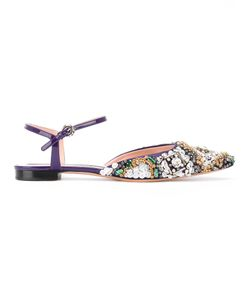 Rochas | Pointed Embellished Flat Shoes Size 39