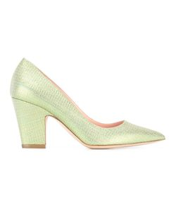 Rupert Sanderson | Glitter Pointed Toe Pumps 39 Leather/Polyester