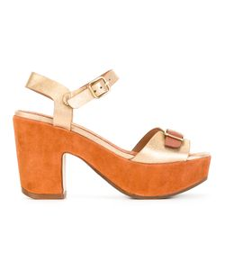 Chie Mihara | Fasha Sandals 38.5 Calf Leather/Calf Suede/Rubber