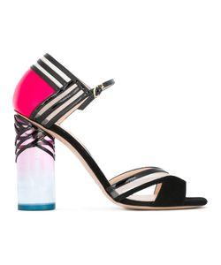 Nicholas Kirkwood | 105mm Zaha Closed-Back Sandals 37 Leather/Nylon/Suede/Acrylic