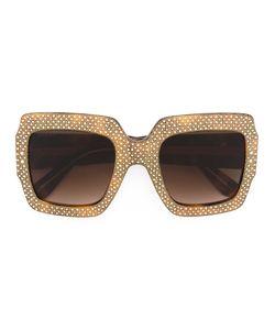 Gucci Eyewear | Oversize Crystal Square Sunglasses Size Acetate/Swarovski