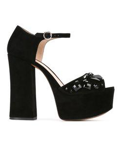 Marc Jacobs | Adriana Embellished Platform Sandals 40 Goat