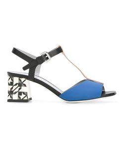 Pollini | T-Strap Sandals 40 Leather