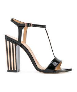 Marc Ellis | Detail T-Strap Sandals Size 40 Leather/Patent