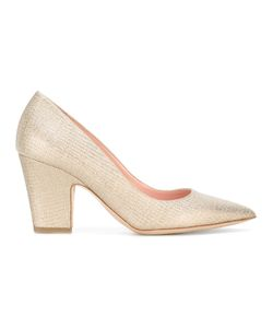 Rupert Sanderson | Glitter Delta Court Pumps Cotton/Calf