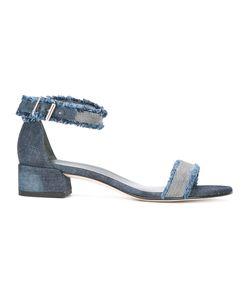 Stuart Weitzman | Stud Detail Denim Sandals 37.5 Cotton/Leather/Metal