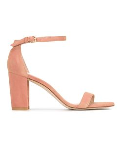 Stuart Weitzman | Nearly Nude Sandals 38 Suede/Leather