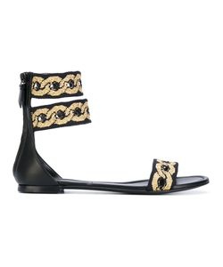 Casadei | Chain Embroidered Sandals