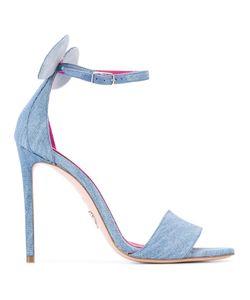 Oscar Tiye | Minnie Denim Sandals 38.5 Leather/Cotton