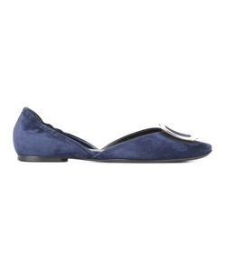 Roger Vivier | Square Plaque Ballerinas Size 41 Leather/Metal Other/Calf