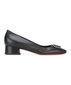 Baldinini | Front Buckle Pumps 38.5 Calf Leather/Leather/Rubber