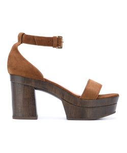 L' Autre Chose | Lautre Chose Clogs With Ankle Strap Leather/Calf