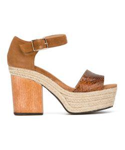 Castañer   Flavia Wedge Sandal 36 Leather/Rubber