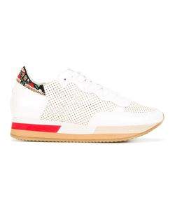 Philippe Model | Embellished Sneakers 37 Cotton/Leather/Patent Leather/Plastic