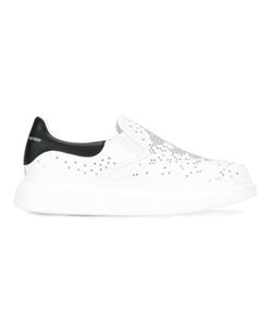 Alexander McQueen | Crystal Embellished Trainers 41.5 Leather/Rubber/Metal