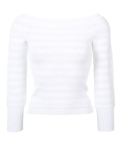 Oscar de la Renta | Off-Shoulder Fitted Jumper