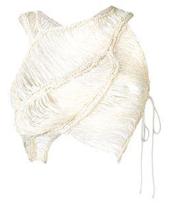 Isabel Benenato | Плетеный Укороченный Топ