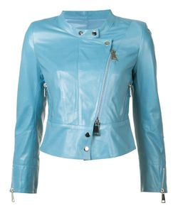 Sylvie Schimmel | Collarless Biker Jacket 40 Leather
