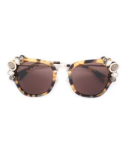 Miu Miu Eyewear   Солнцезащитные Очки В Объемной Оправе