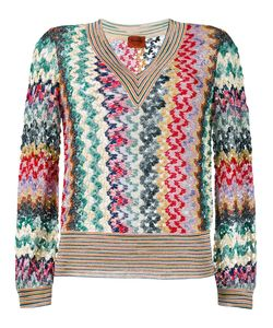 Missoni | V-Neck Jumper 46 Viscose/Cupro/Polyester