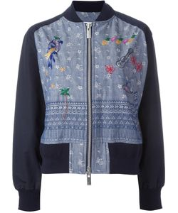 Sacai | Aloha Chambray Bomber Jacket 3 Cotton