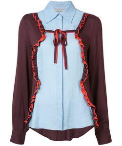 Preen By Thornton Bregazzi | Panelled Ruffle Trim Shirt Size Small