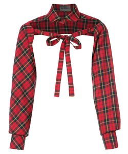 Les Animaux   Half Shirt With Ties Top