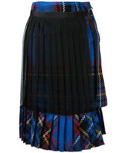 Sacai | Pleated Tartan Skirt 2