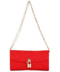 Dolce & Gabbana   Brocade Padlock Clutch Metal Other/Glass/Cotton/Viscose