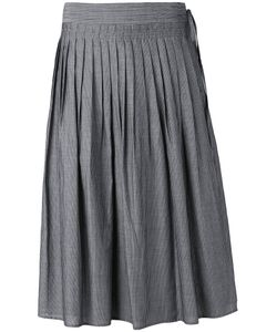 Vince   Striped Pleated Skirt Xs