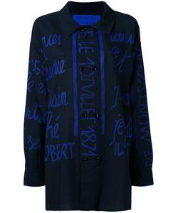 JC DE CASTELBAJAC VINTAGE | Handwritting Printed Shirt Large