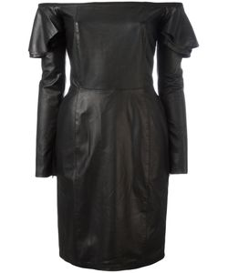 Diesel | Off The Shoulder Dress Small Lamb Skin/Viscose/Polyester