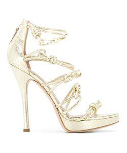 Alberta Ferretti | Knotted Stiletto Sandals Size 38.5