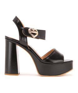 Love Moschino | Heart Buckle Sandals 36 Polyurethane