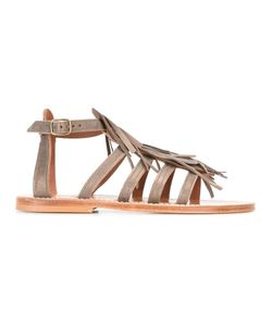 K. Jacques | Fringed Sandals 38 Leather
