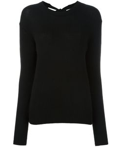 Joseph | Rear Bow Jumper Small Cashmere