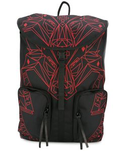 MARCELO BURLON COUNTY OF MILAN   Wolf Print Backpack Polyester