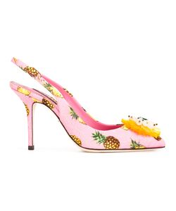 Dolce & Gabbana | Pineapple Print Pumps 36 Viscose/Leather/Glass