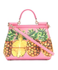 Dolce & Gabbana | Pineapple Print Handbag Leather