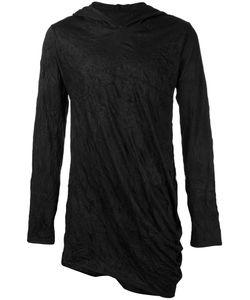 ALCHEMY | Crumpled Effect Hoodie Medium Cotton/Spandex/Elastane