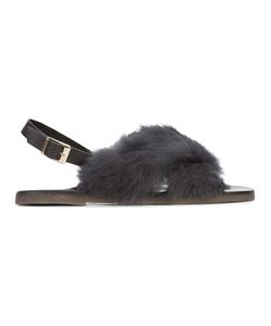 Fabio Rusconi | Slingback Fur Sandals Women
