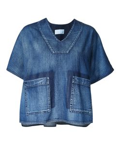 DEMOO PARKCHOONMOO | Boxy Denim Blouse 38 Cotton
