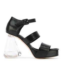 Simone Rocha   Perspex Heel Strappy Sandals Calf