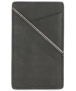 SOUTH LANE | Ribbed Detail Cardholder Adult Unisex Calf Leather