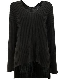 Ilaria Nistri | High-Low Hem Ribbed Knitted Top Size Medium