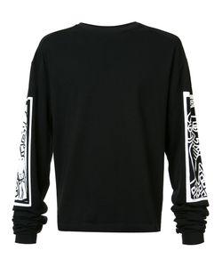 HACULLA | Printed Sleeves Sweatshirt Small Cotton