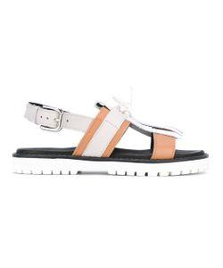 Pollini | Fringed Slingback Sandals