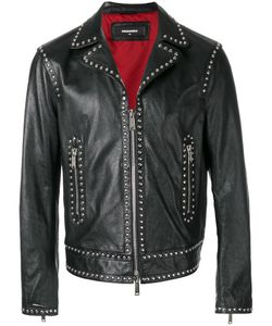 Dsquared2 | Studded Leather Jacket 48 Cotton/Calf Leather/Aluminium/Polyester