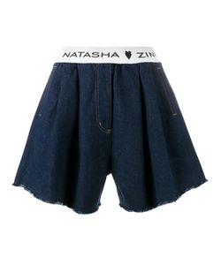 Natasha Zinko   Denim Shorts 38 Cotton/Polyamide/Polyester